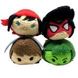 Disney Toys   Marvel Women Plush Tsum Tsums Elekra Wasp She-Hulk   Color: Red/Yellow   Size: 3.5 Inch