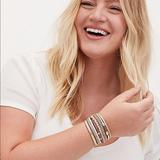 Torrid Jewelry | Torrid Magnetic Stacked Bracelet Plus Size Nwt | Color: Cream/Gold | Size: Plus Size 12
