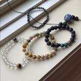 Urban Outfitters Jewelry   Handmade Stone Jewelry 4 Bracelets 1 Necklace   Color: White/Silver   Size: Os