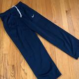 Nike Bottoms | Nike Dri-Fit Boys Fleece Navy Training Pants Yl | Color: Blue | Size: Lb