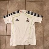 Adidas Shirts & Tops | Boys Real Madrid Home Soccer Jersey | Color: Black/White | Size: Lb