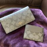 Coach Accessories   Coach Wallet & Coach Id Card Case Wallet   Color: Black/Gray   Size: Os