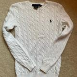 Ralph Lauren Sweaters | Ralph Lauren Sport White Cable-Knit Sweater | Color: White | Size: S