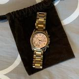 Michael Kors Accessories   Michael Kors Rose Gold Womens Watch With Diamonds   Color: Gold/Red   Size: Os