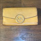 Michael Kors Makeup | Michael Kors Leather Wallet | Color: Tan | Size: Os