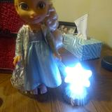 Disney Other | Elsa Frozen Doll Baby Doll Size | Color: Blue/White | Size: Osbb