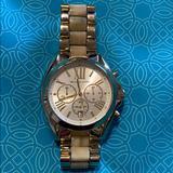 Michael Kors Accessories | Large Face Gold Michael Kors | Color: Cream/Gold | Size: Os