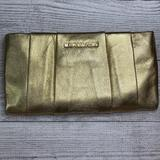 Michael Kors Bags   Michael Michael Kors Daria Pleated Gold Clutch   Color: Gold   Size: Os