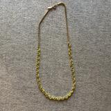 Madewell Jewelry   Madewell Neon Yellow And Gold Rope Necklace   Color: Gold/Yellow   Size: Os