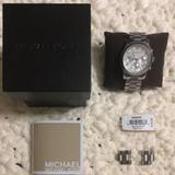 Michael Kors Accessories   Michael Kors Silver Watch   Color: Silver/White   Size: Os