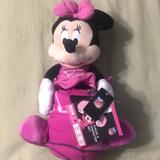Disney Other   Minnie Mouse Throw And Character Set   Color: Pink   Size: Osg