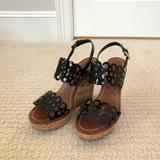 Tory Burch Shoes | Nib Tory Burch Nori 115mm Wedge Sandal | Color: Black/Brown | Size: 7