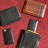 Coach Accessories | Leather Wallets And Money Clip Brands 4 | Color: Black/Brown | Size: Os