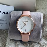 Michael Kors Accessories | New Michael Kors Ladies Gold Rose Watch | Color: Pink/White | Size: 38 Mm