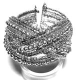 Free People Jewelry   Fp Silver Seed Bead Braided Cuff   Color: Silver   Size: Os
