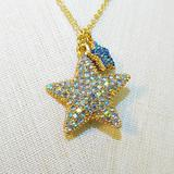 J. Crew Jewelry | J. Crew Crew Cuts Starfish Necklace | Color: Blue/Gold | Size: Os