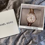 Michael Kors Accessories | Michael Kors Rose Gold Diamond Watch | Color: Gold | Size: Os