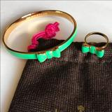 Kate Spade Jewelry   Kate Spade Take A Bow Bangle And Ring Set   Color: Gold/Green   Size: Os