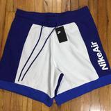 Nike Shorts | Nike Nsw Sportswear Nike Air Fleece Shorts White | Color: Blue/White | Size: Xxl