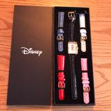 Disney Accessories | Nwt Minnie Mouse Watch | Color: Black/Pink/Red/White | Size: Watch Face Approximately 1 12x 1 14