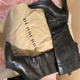 Burberry Shoes | Burberry Black Leather Knee High Boots | Color: Black | Size: 7.5