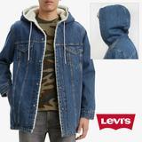 Levi's Jackets & Coats | Levis Mens Denim Jean Jacket Sherpa Lined Long Fit | Color: Blue | Size: Various