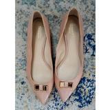 Coach Shoes | Coach Patent Leather Cap Toe Ballet Flats 8b | Color: Cream | Size: 8