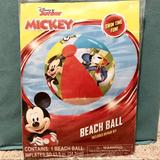 Disney Toys | Disney Junior Mickey Beach Ball | Color: Blue/Red | Size: One Size