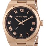 Michael Kors Other | Michael Kors Channing Rose Gold Tone Black Dial | Color: Gold | Size: Os