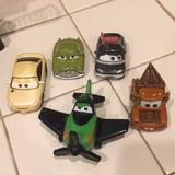 Disney Toys | Disney Set Car Toys In Pre-Owned | Color: Green/Red | Size: One