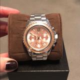 Michael Kors Accessories | Michael Kors Rose Gold Face And Silver Tone Watch | Color: Gold/Silver | Size: Os