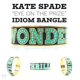 Kate Spade Jewelry | Kate Spade Thrills & Wonder Idiom Hinged Bangle | Color: Gold | Size: Os