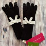Kate Spade Accessories | Kate Spade Gloves (Touch Tech Gloves) | Color: Black/White | Size: Os