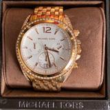 Michael Kors Accessories | Michael Kors Pressley Chronograph Ladies Watch | Color: Gold | Size: Os