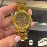 Michael Kors Accessories   Michael Kors Gold Diamond Bezel Watch   Color: Gold/Silver   Size: Os
