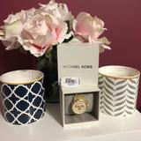 Michael Kors Accessories | Michael Kors Women'S Mk5039 Horn Jet Set Watch | Color: Cream | Size: Os