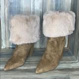 Nine West Shoes | Nine West Women'S Slouchy Fashion Boot Fur | Color: Tan | Size: 6