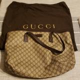 Gucci Bags   Gucci Beige Canvas Tote Bag   Color: Brown/Tan   Size: Os