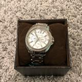 Michael Kors Jewelry   Michael Kors Silver Watch   Color: Silver/White   Size: Os