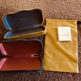 Gucci Accessories   Gucci Glasses Case   Color: Green/Yellow   Size: Fits Gucci Glasses