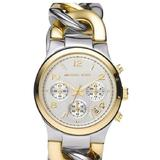 Michael Kors Accessories   Michael Kors Mk3199 Twist Chain Two Tone Watch   Color: Gold/Silver   Size: Os