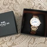 Coach Accessories | Coach Madison Gold Plated Stainless Steel Watch | Color: Gold/White | Size: Os