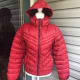Nike Jackets & Coats | Nike Down Puffer Jacket Hoodie Red Women S | Color: Red | Size: M