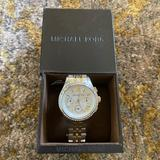 Michael Kors Accessories   Michael Kors Rhinestone 2 Tone Silver & Gold Watch   Color: Gold/Silver   Size: Os