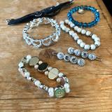 Disney Accessories | Bundle Of Girl'S Bracelets | Color: Black/Silver | Size: Osg