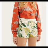 Free People Shorts   Free People Palm Print Shortssz:28nwot   Color: Green/White   Size: 28