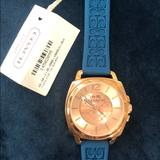 Coach Jewelry   Coach Silicone Blue Gold Rose Watch   Color: Blue/Gold   Size: Os