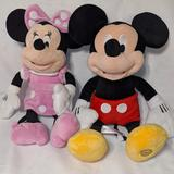 Disney Toys | Mickey And Minnie Plush Toy Combo | Color: Black/Red | Size: None
