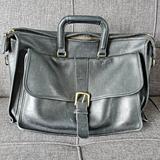 Coach Accessories | Coach Vintage Leather Briefcase | Color: Black/Gold | Size: Os