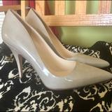 Kate Spade Shoes | Kate Spade Taupe Heels Patent Leather Size 9.5 | Color: Tan | Size: 9.5